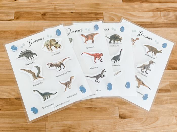 free dinosaur matching game printable