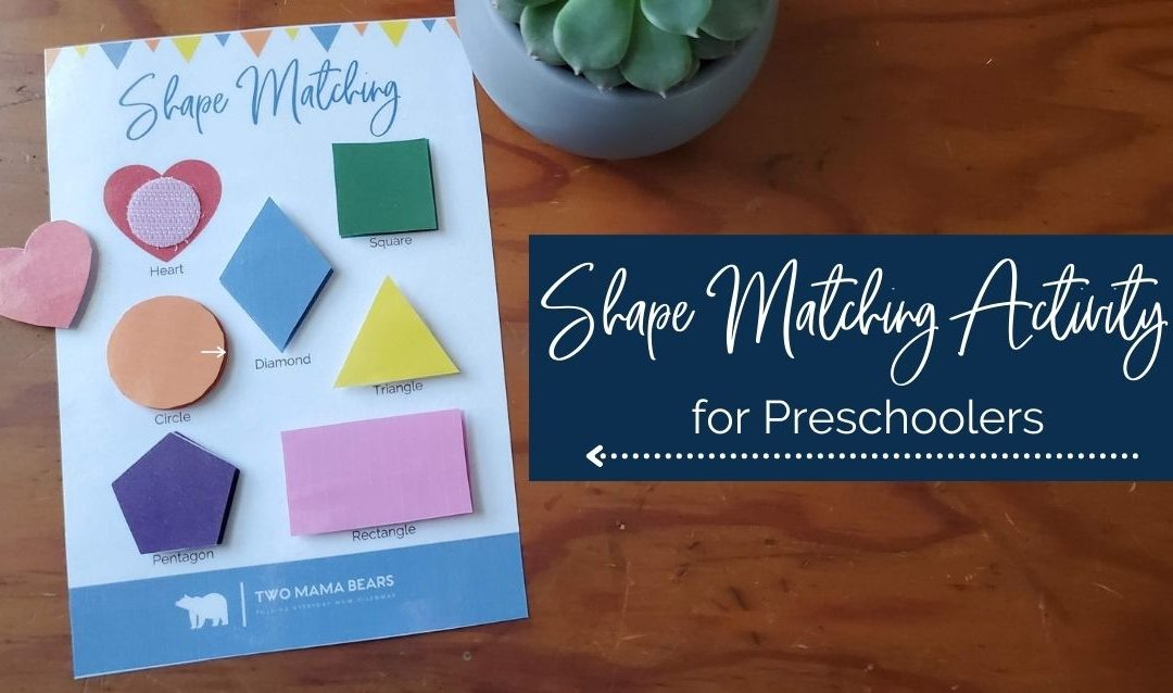 Free Matching Shapes Worksheet for Preschoolers