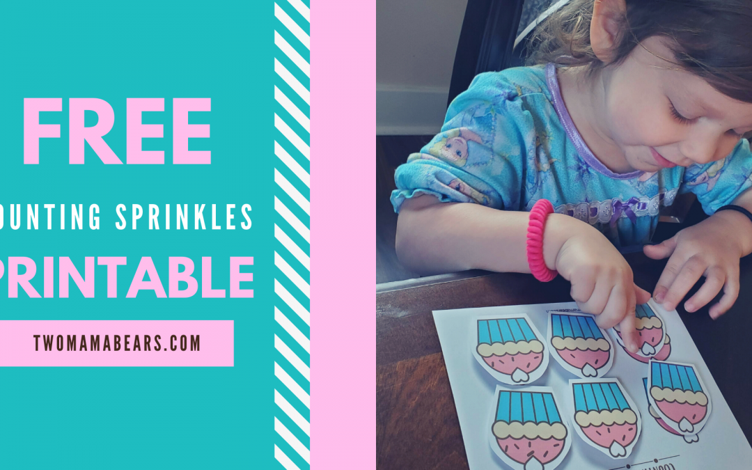 Free Hands-On Math Activity for Preschoolers: Counting Sprinkles!
