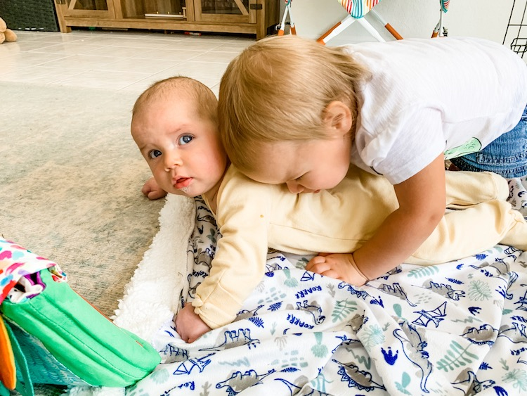 Baby and Toddler with Newborn Lovevery Play Kit