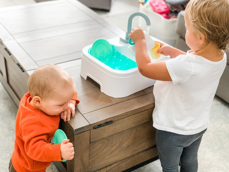 Lovevery play kit with sink toy