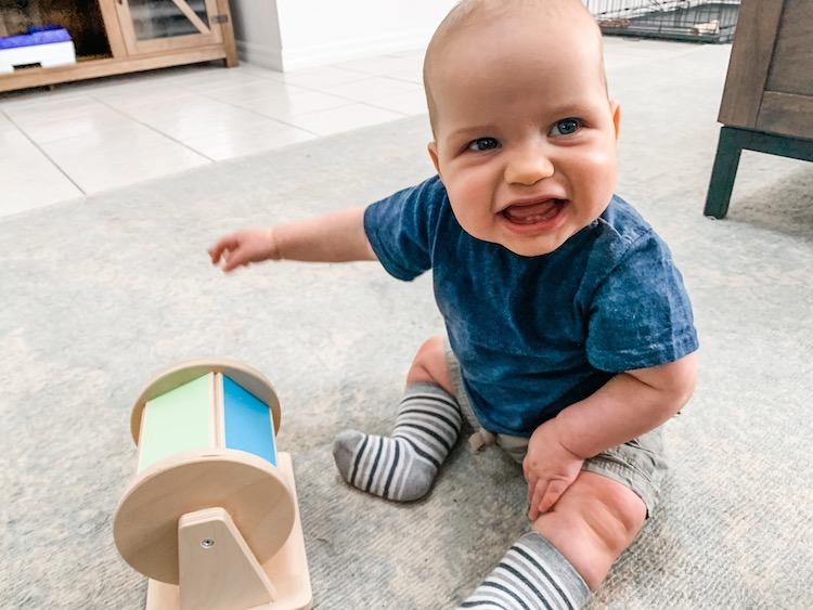 Lovevery rolling montessori toy