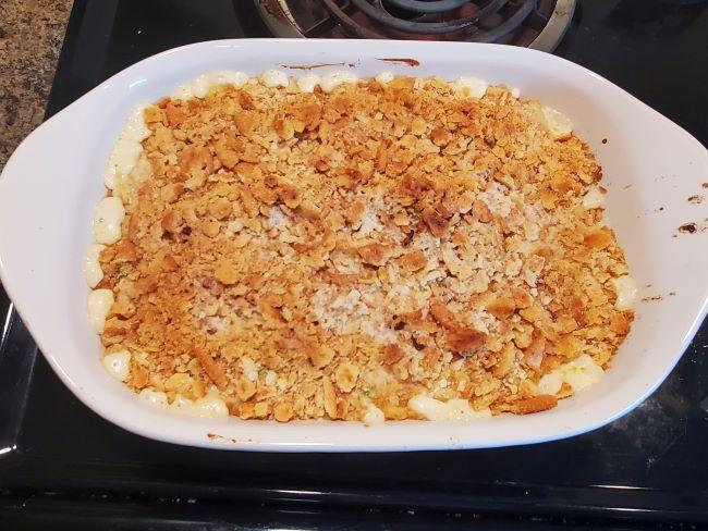 ritz casserole in a dish