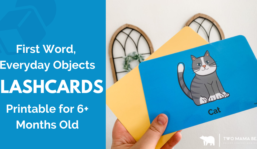 First Word, Everyday Objects Flashcard Printable for 6+ Months