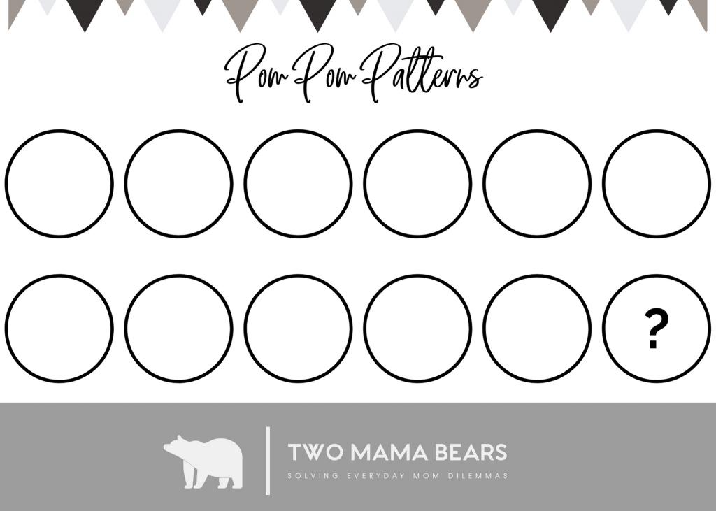 Pom Pom Pattern Activity Blank Card 7