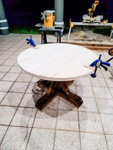 Kitchen table in progress