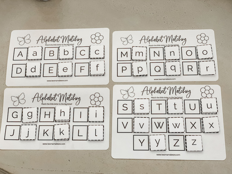 A to Z with velcro uppercase and lowercase letters