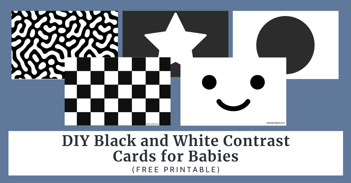 DIY Black and White Contrast Cards for Babies