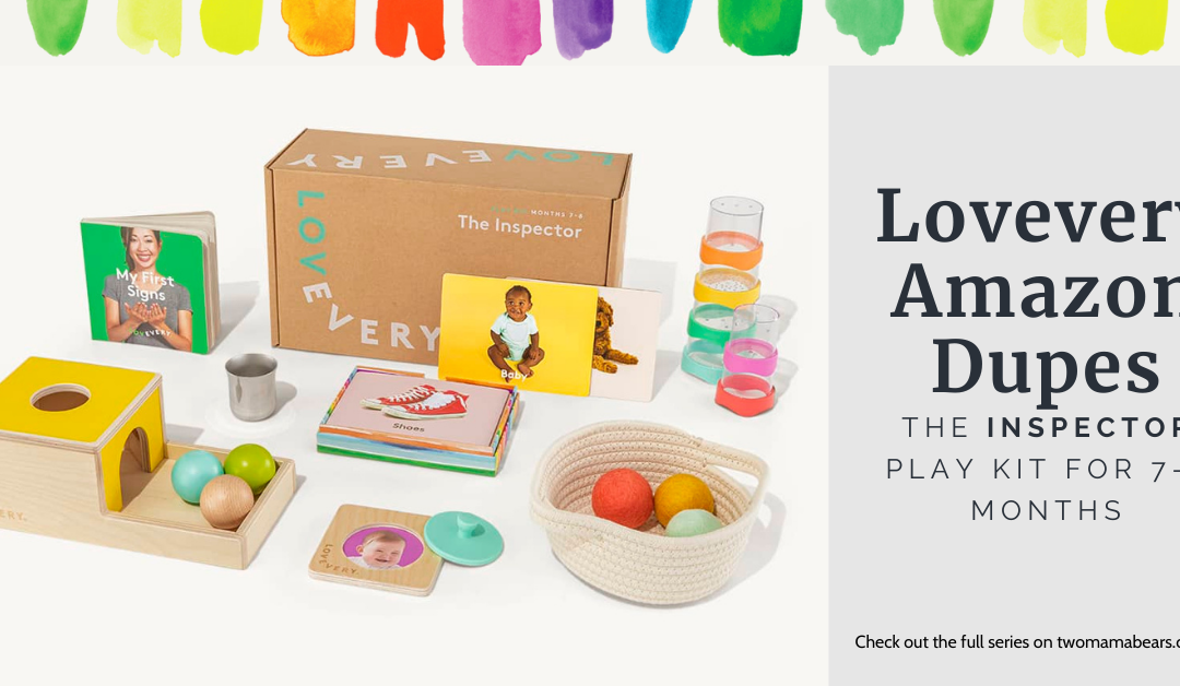 Lovevery Amazon Dupes: The Inspector Play Kit for 7-8 Months