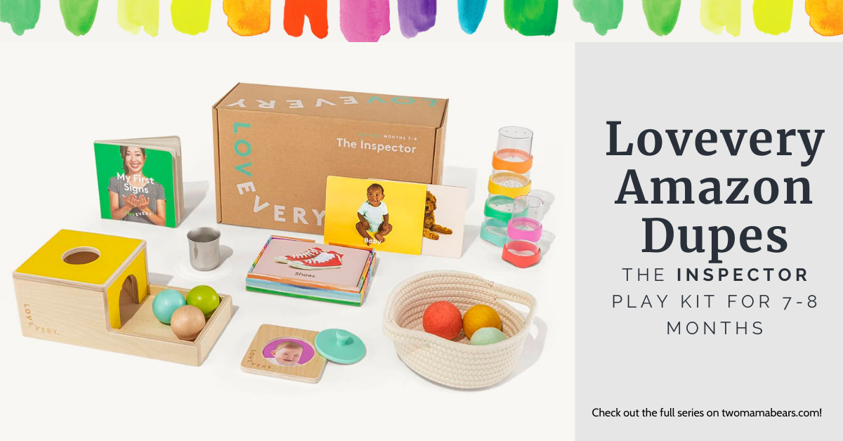 Lovevery Amazon Dupes The Inspector Play Kit for 7-8 Months