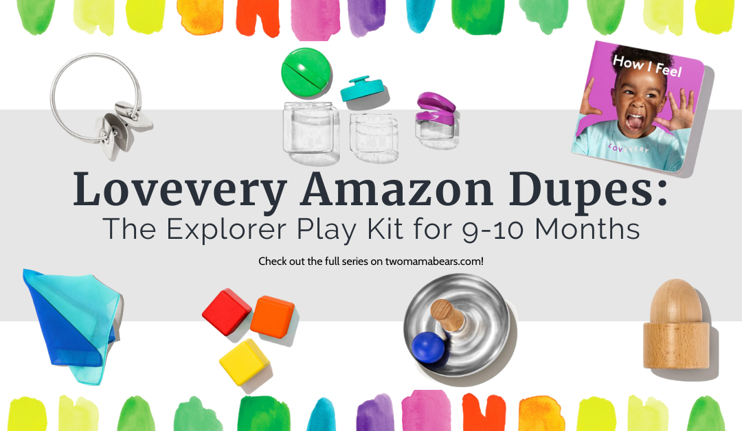 Lovevery Amazon Dupes: The Explorer Play Kit for 9-10 Months
