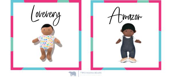 lovevery vs amazon organic cotton baby doll