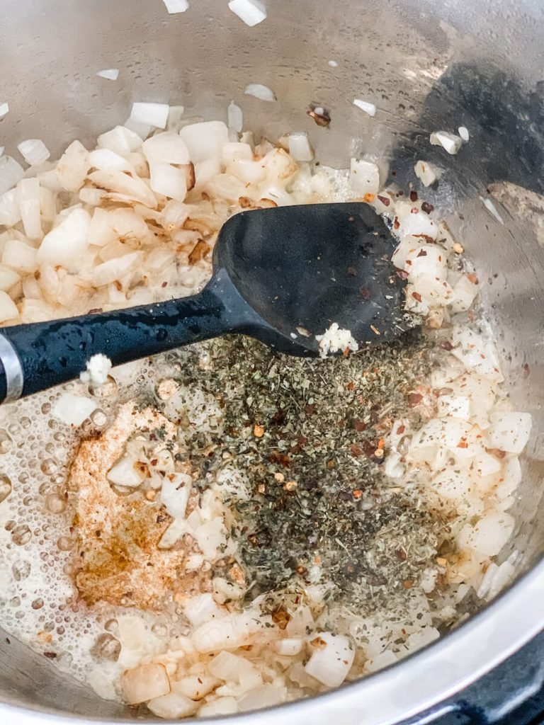 mix in the seasoning