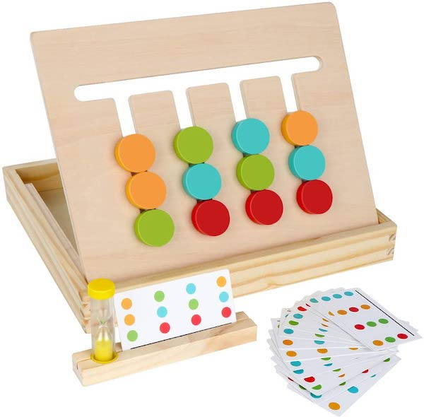montessori learning color and shape slider puzzle