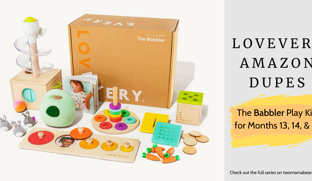 Lovevery Amazon Dupes: The Babbler Play Kit for Months 13, 14 and 15