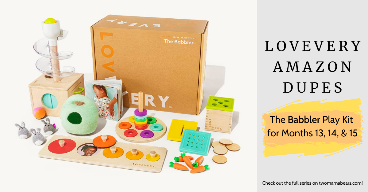 Lovevery Amazon Dupes The Babbler Play Kit for Months 13, 14 and 15
