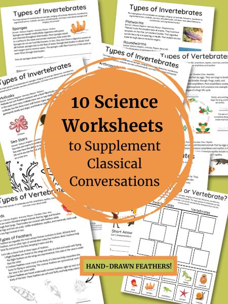 Ten Science Worksheets Bundle