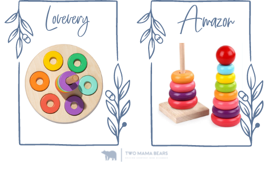 wooden ring stacker lovevery vs amazon